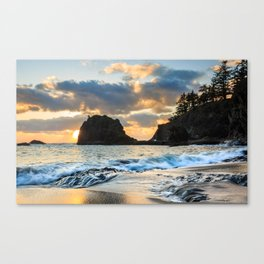 Secret Beach Sunset Canvas Print