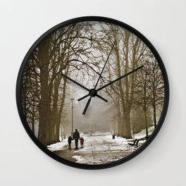 A walk through the park II Wall Clock