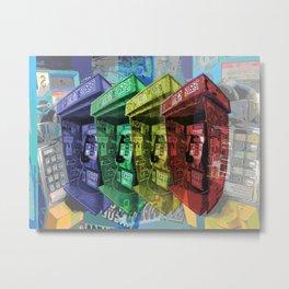 Montreal phone box color Metal Print