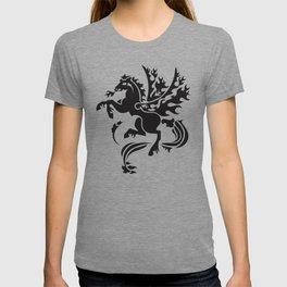 Fiery Pegasus - black T-shirt