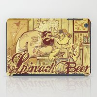 popeye iPad Cases featuring Spinach Beer by Pericles Junior