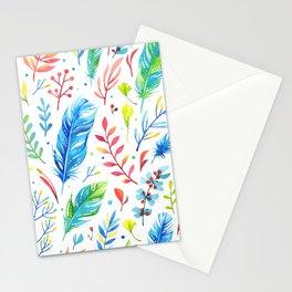 Boho Chic White by Mimi Bondi Stationery Cards