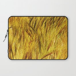 Wild Grass Burnished By The Sun Laptop Sleeve