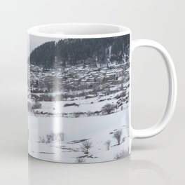 Snowy landscape from Sicily Coffee Mug
