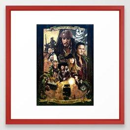 Pirates of the Carobbean Poster Framed Art Print