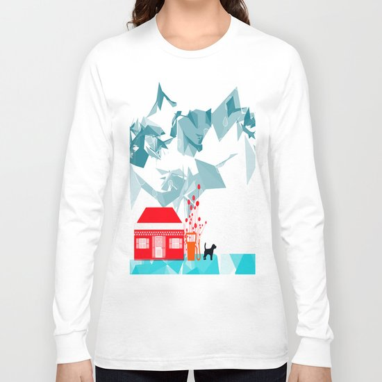 Gas station and the dog Long Sleeve T-shirt