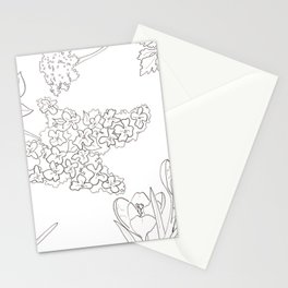 Flora of Fun - Color or Paint Your Own! Stationery Cards