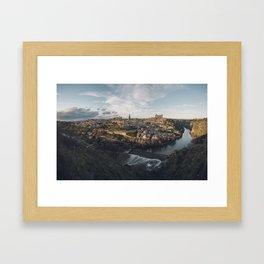 Toledo at sunset Framed Art Print