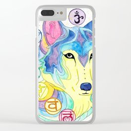Chakra Wolf Clear iPhone Case