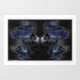 Frakblot Dizzy Art Print