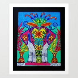 Indian Elephant by Anthony Davais Art Print