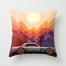 Into the Sun, Ford Mustang 65 KB Throw Pillow