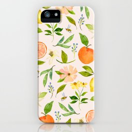 LOVELY LEMONS IN PINK iPhone Case