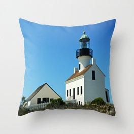 Cabrillo Lighthouse  Throw Pillow