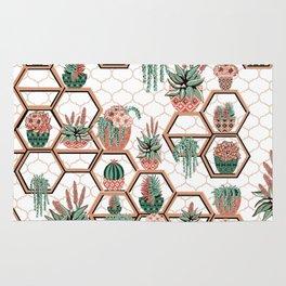 Christmas Succulent Garden. Echeveria, Cacti, plants, aloe vera, pachyveria, haworthia, holiday gift Rug