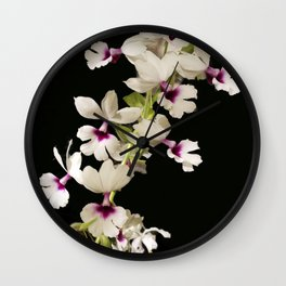 Calanthe rosea Orchid Wall Clock