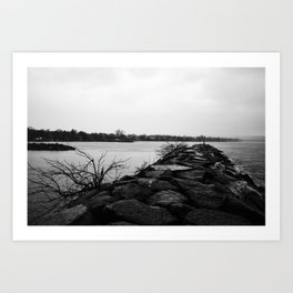 Short walk Art Print