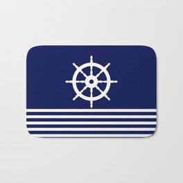 AFE Navy & White Helm Wheel Bath Mat