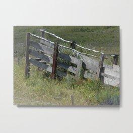 Cattle Chute Metal Print