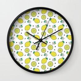 Confetti Lemon Print Wall Clock