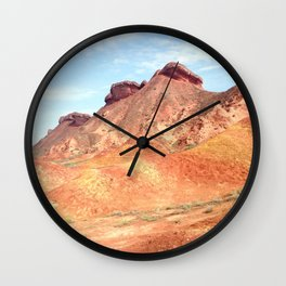 mineral mountain photography Wall Clock