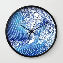 Blue Wave II Wall Clock
