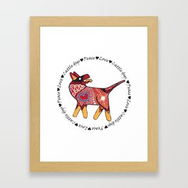 Peace Love and Cattle dogs Framed Art Print