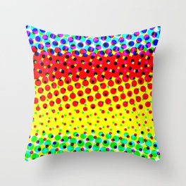 Abstract Halftone Color Pattern Throw Pillow