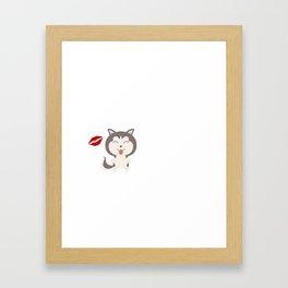 I Kissed A Siberian Husky And I Liked It Cute Dog Kiss Gift Idea Framed Art Print