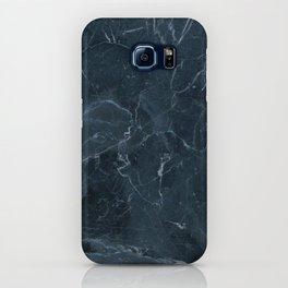 Dark blue marble texture iPhone Case