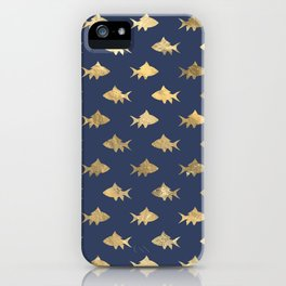 Elegant Gold Fishes Pattern iPhone Case