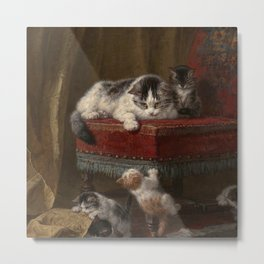 Cats family painting Metal Print