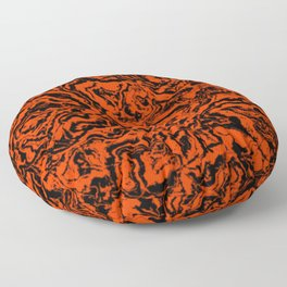 modern scramble, black and red Floor Pillow