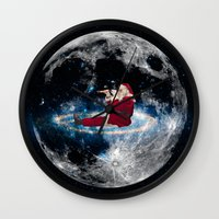 santa Wall Clocks featuring Santa by Cs025