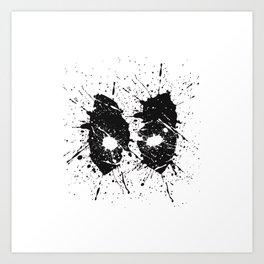 Dead Pool Eyes Splash Art Print