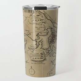 Vintage Boston Revolutionary War Map (1775) Travel Mug