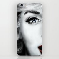 marilyn iPhone & iPod Skins featuring Marilyn  by Lily Fitch
