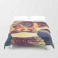 psychedelic Duvet Covers featuring psychedelic by Dani L.