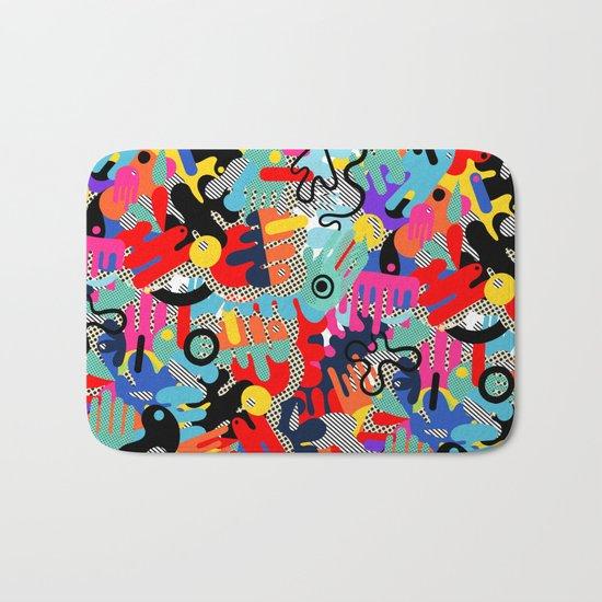 Color blobs 002 Bath Mat