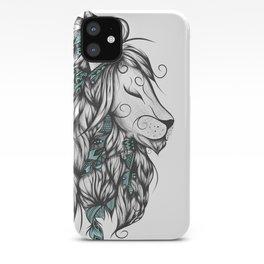 Poetic Lion Turquoise iPhone Case