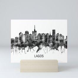 Lagos Nigeria Skyline BW Mini Art Print