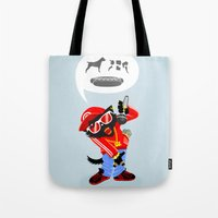 rap Tote Bags featuring Cat's rap by Bakal Evgeny