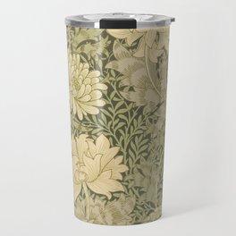 Chrysanthemum by William Morris 1877 Antique Vintage Pattern CC0 Spring Summer Travel Mug
