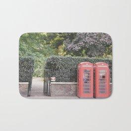 London Phone Booths Bath Mat