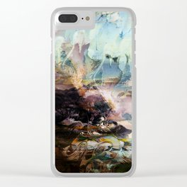 Morning Seashore Abstract Clear iPhone Case