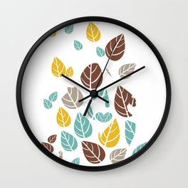 Color of the wind valentine love art print Wall Clock