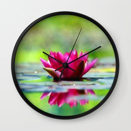 Lily of the Water Wall Clock
