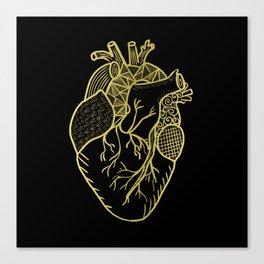 Designer Heart Gold Canvas Print