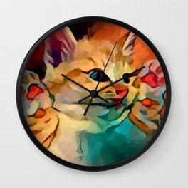 Kitten 2 Wall Clock