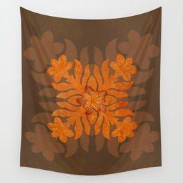 Hawaiian Quilt Series: Plumeria Wall Tapestry